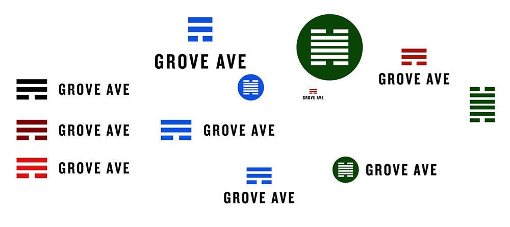 Grove Ave logo design