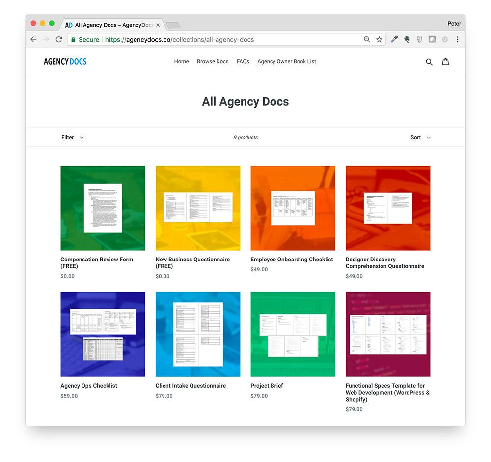 AgencyDocs products