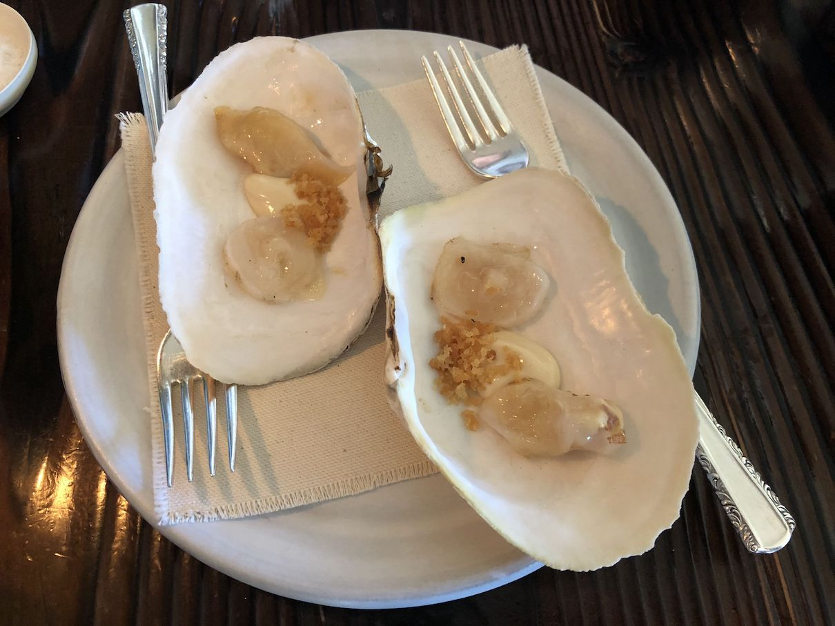 Geoduck at The Willows Inn