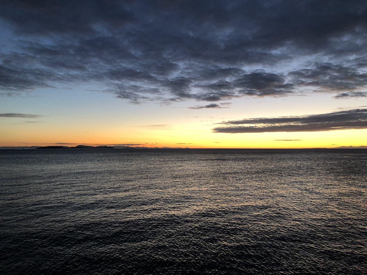 The view at 10PM on Lummi Island