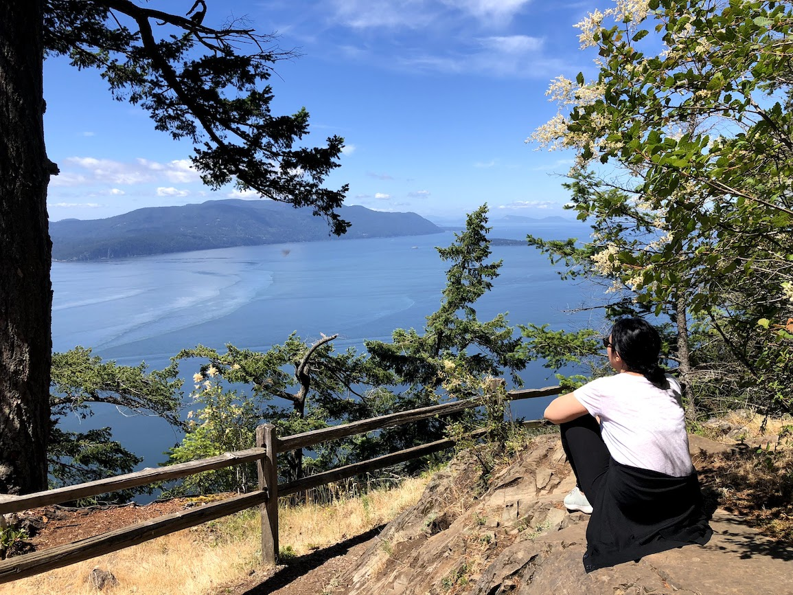 View from the Overlook at Baker Preserve on Lummi Island