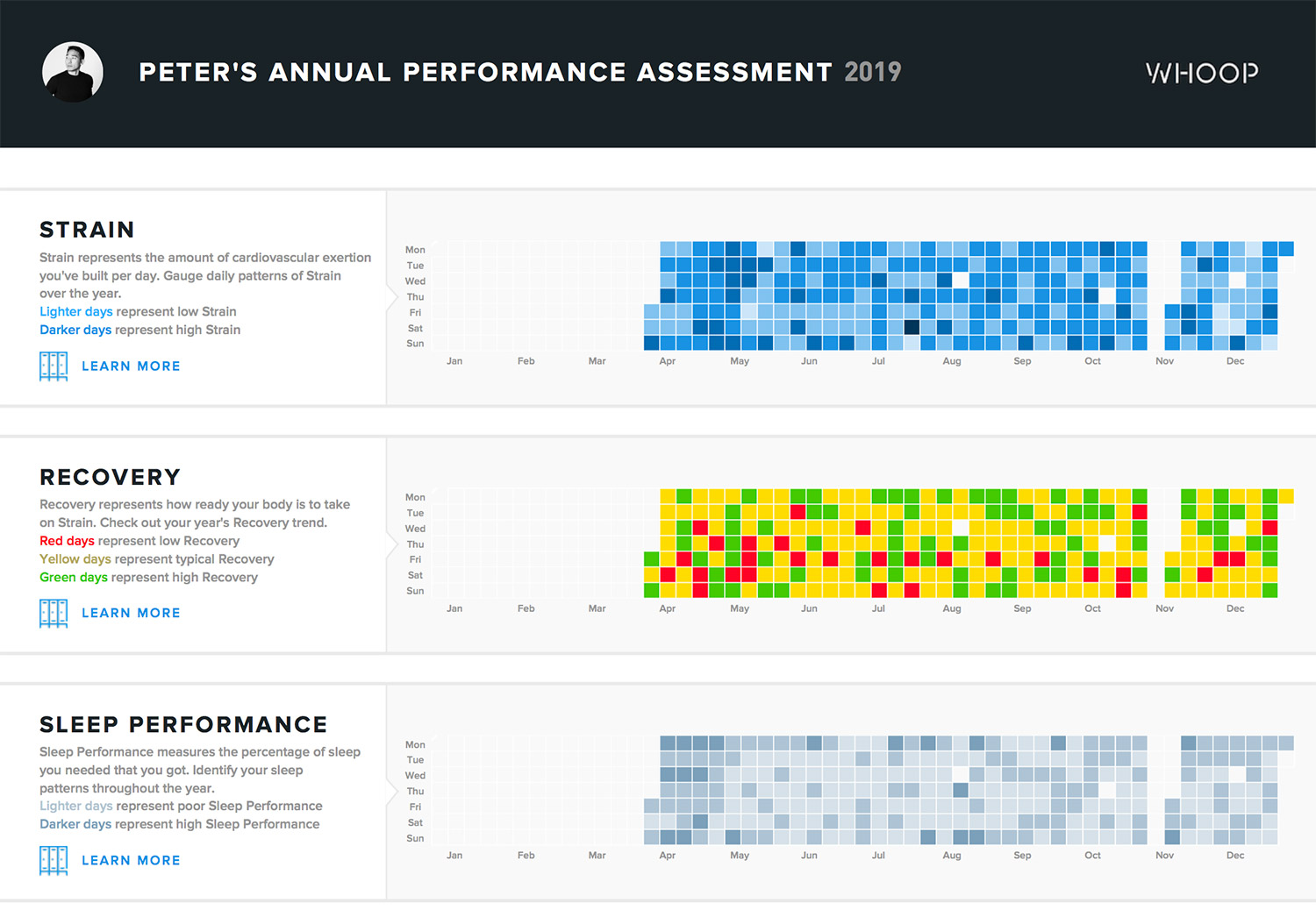 A page from my 2019 Performance Assessment report that was sent on the last day of the year.
