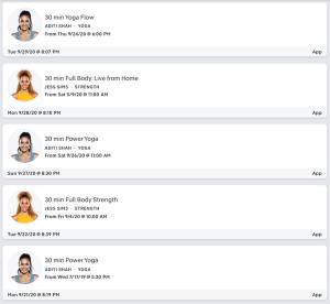 You can see who my go-to instructors on Peloton are at first glance.